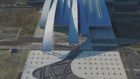 Vista aérea ao aeroporto de Platov em Rússia filme