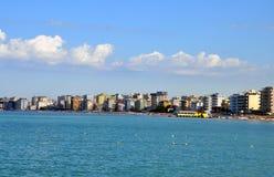 Vista aérea ao mar de adriático em Durres imagem de stock royalty free
