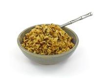 Vista aérea arroz de grão longo cozinhado Fotografia de Stock Royalty Free