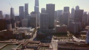 Vista aérea bonita da cidade de San Francisco vídeos de arquivo