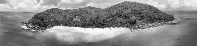 Vista aérea bonita da ilha de Seychelles Fotos de Stock Royalty Free