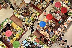 Vista aérea colorida do mercado do alimento Imagens de Stock