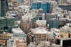 Vista aérea, corte da igreja, cidade de Londres Imagem de Stock