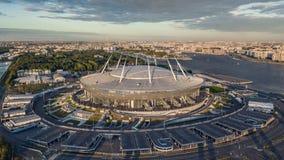 Vista aérea da arena de Gazprom imagem de stock royalty free