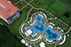 Vista aérea da associação do recurso luxuoso Imagem de Stock