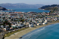 Arquitectura da cidade de Wellington imagens de stock