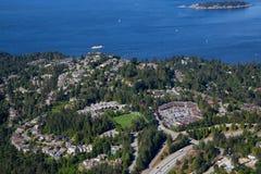 Vista aérea da baía em ferradura foto de stock royalty free