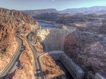 Vista aérea da barragem Hoover, Nevada, EUA foto de stock