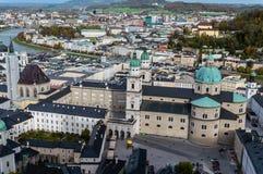 Vista a?rea da catedral de Salzburg, ?ustria fotos de stock royalty free