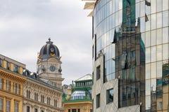 Vista aérea da catedral de Sthephansdom Cidade de Viena, Áustria imagem de stock royalty free