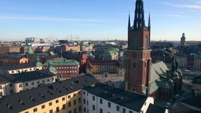 Vista aérea da cidade de Éstocolmo filme