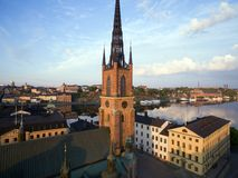 Vista aérea da cidade de Éstocolmo imagem de stock
