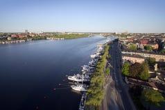 Vista aérea da cidade de Éstocolmo imagens de stock royalty free