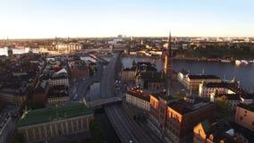 Vista aérea da cidade de Éstocolmo video estoque
