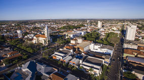 Vista aérea da cidade de Andradina no estado de Sao Paulo em Brazi imagens de stock