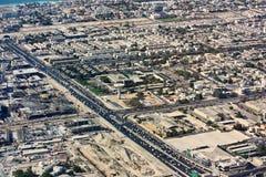 Vista aérea da cidade de Dubai Foto de Stock