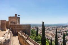 Vista aérea da cidade de Granada, Albaycin, visto do A imagem de stock royalty free