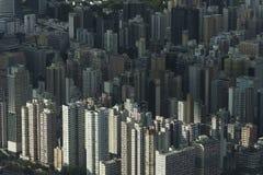 Vista aérea da cidade de Hong Kong fotos de stock royalty free