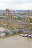 Vista aérea da cidade de Londres Fotografia de Stock