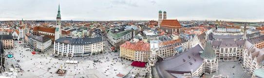 Vista aérea da cidade de Munich, Alemanha - todos os logotipos e marcas removido Fotografia de Stock