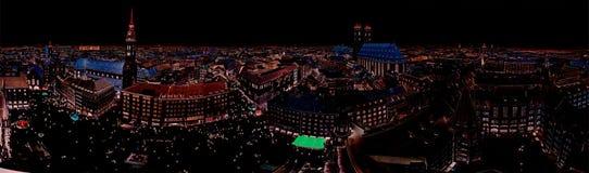 Vista aérea da cidade de Munich, Alemanha - todos os logotipos e marcas removido Foto de Stock Royalty Free