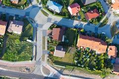 Vista aérea da cidade de Nysa dos subúrbios Foto de Stock Royalty Free