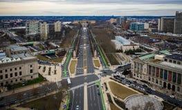 Vista aérea da cidade de Philadelphfia fotografia de stock royalty free
