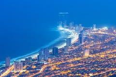 Vista aérea da cidade de porto de Iquique no Chile imagem de stock