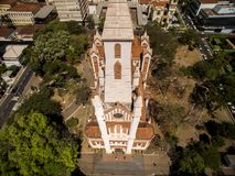 Vista aérea da cidade de Ribeirao Preto em Sao Paulo, Brasil imagens de stock
