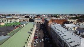 Vista aérea da cidade de St Petersburg filme