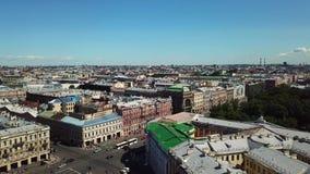 Vista aérea da cidade de St Petersburg video estoque