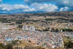 Vista aérea da cidade de Tunja imagem de stock