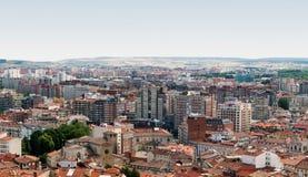Vista aérea da cidade espanhola de Burgos Imagens de Stock