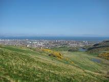 Vista aérea da cidade norte de Edimburgo Foto de Stock