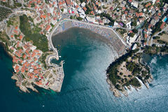Vista aérea da cidade velha de Ulcin Fotos de Stock