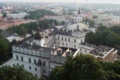 Vista aérea da cidade velha de Vilnius Imagem de Stock Royalty Free