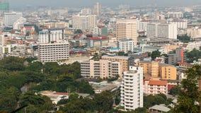 Vista aérea da construção e dos arranha-céus do ponto de vista do Pa Fotografia de Stock