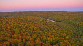 Vista aérea da cor da queda Fotos de Stock Royalty Free