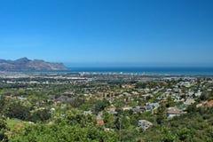 Vista aérea da costa, África do Sul imagem de stock