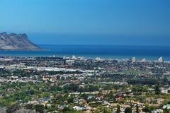 Vista aérea da costa, África do Sul foto de stock