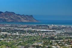 Vista aérea da costa, África do Sul fotografia de stock