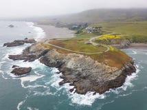 Vista aérea da costa cênico de Califórnia do norte Foto de Stock