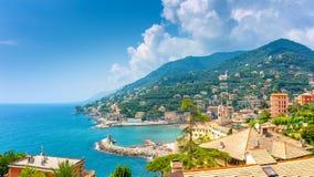 Vista aérea da costa de Amalfi imagens de stock royalty free