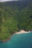 Vista aérea da costa do Na Pali Imagem de Stock Royalty Free