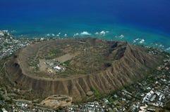 Vista aérea da cratera de Diamondhead Imagens de Stock