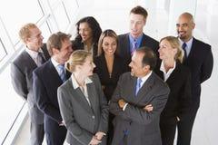 Vista aérea da equipe de funcionários de escritório Imagens de Stock