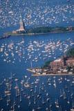 Vista aérea da estátua de liberdade Imagem de Stock Royalty Free