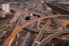 Vista aérea da estrada Imagens de Stock Royalty Free