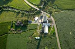 Vista aérea da exploração agrícola Fotos de Stock Royalty Free