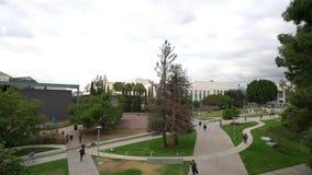 Vista aérea da faculdade da cidade de Pasadena video estoque